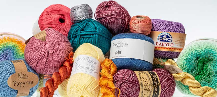 crochet yarn, wool, and supplies