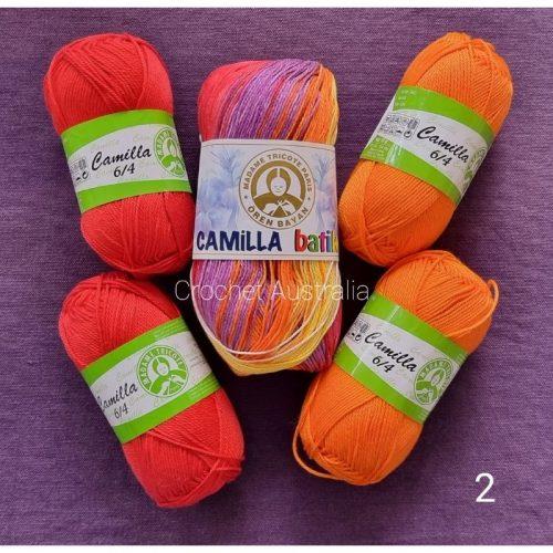 camilla batik 114 red orange