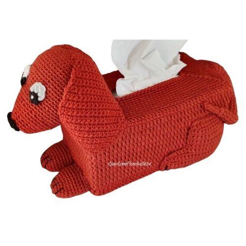dachshund tissue box cover pattern